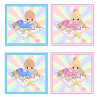 Baby Card Toppers in Pink and Blue