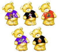 Halloween Teddy Bear Card Toppers