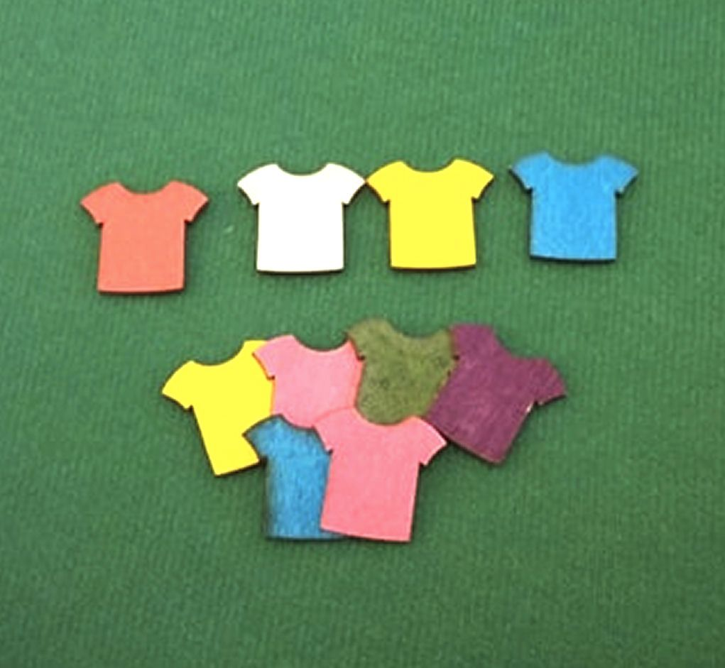 Football Shirt Wooden Embellishments