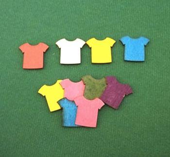 Football Shirt Wooden Embellishments x 10