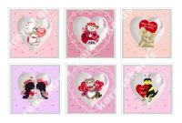 Valentines Day Characters Card Toppers