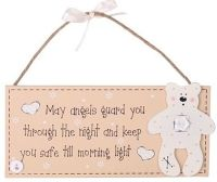 Wooden baby plaque in an Angels design