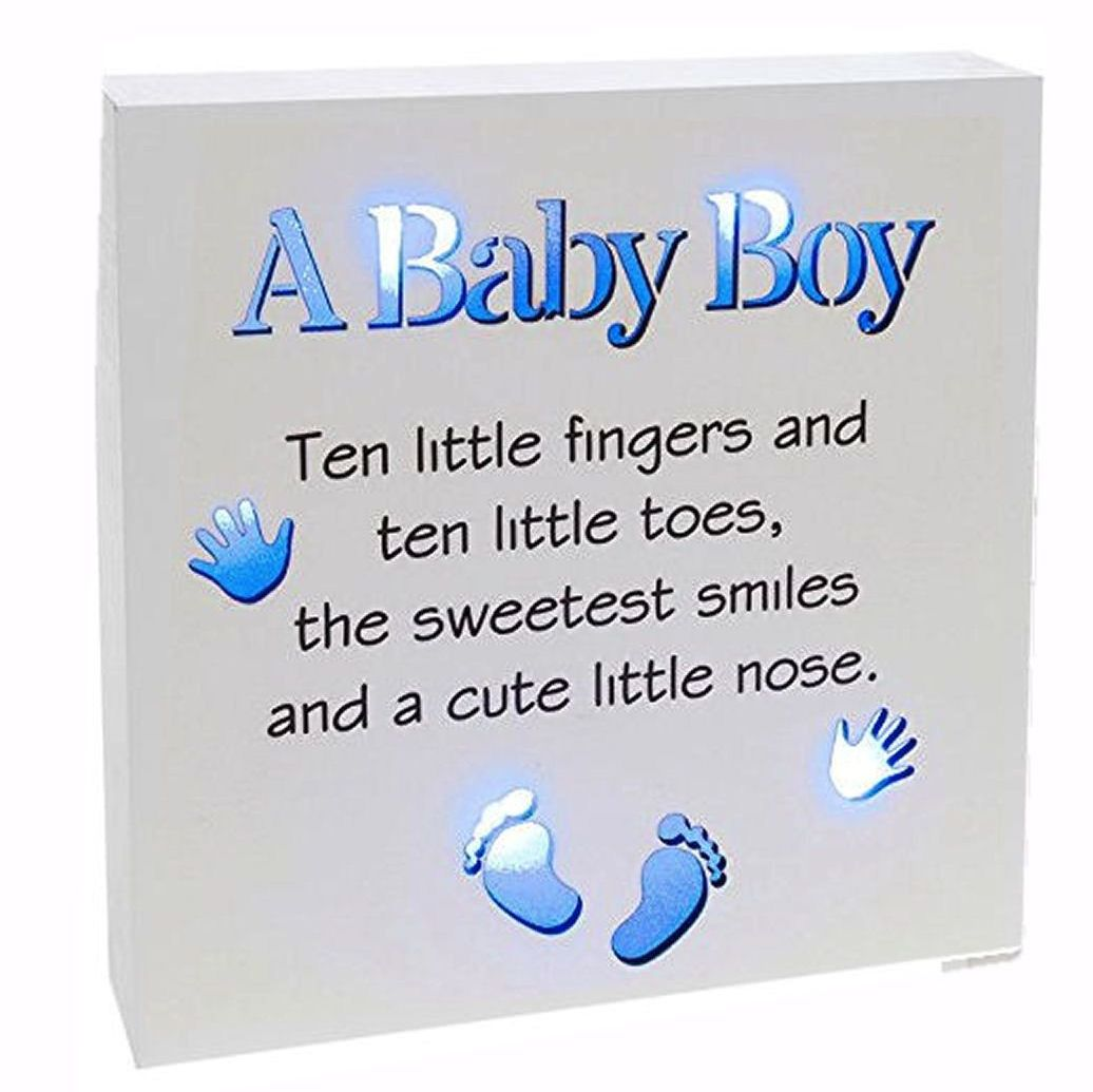 Baby Boy Reflections Light Up Plaque
