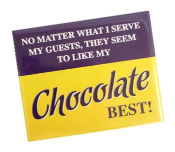 Chocolate Design Fridge Magnet