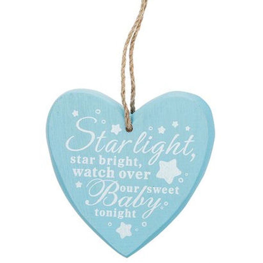 Baby Boy Hanging Plaque - Starlight
