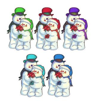 Christmas Snowmen Card Toppers