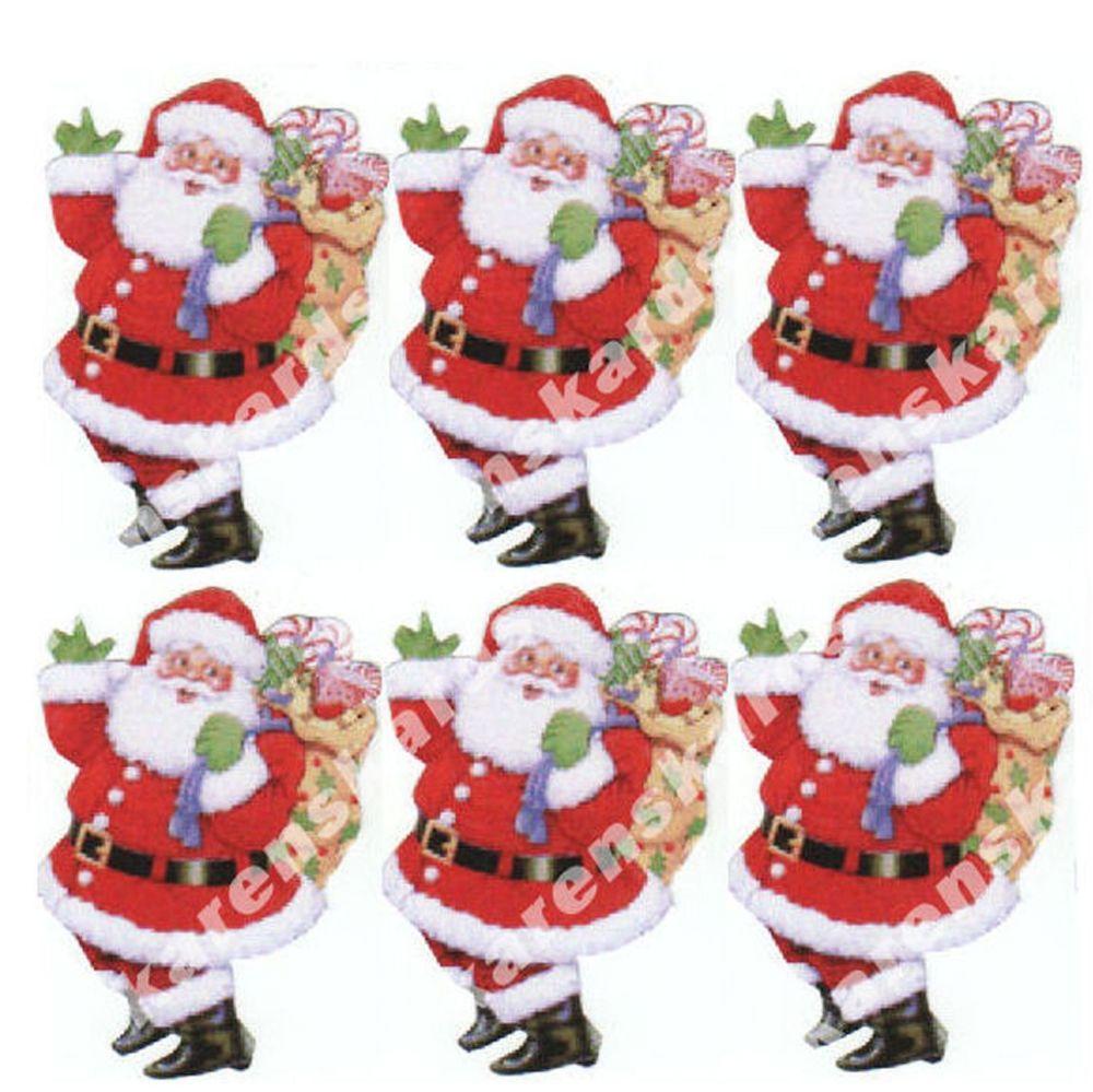Christmas Santas Card Toppers