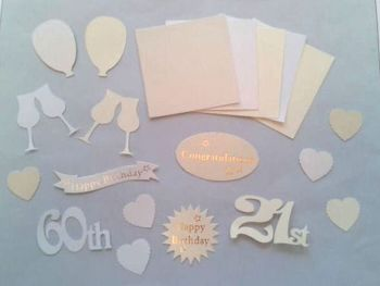 Birthday/Anniversary Assorted Die Cut Embellishments x 20