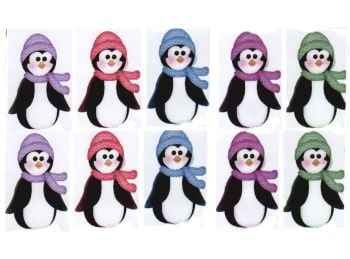 Mini Christmas Penguin Card Making Toppers