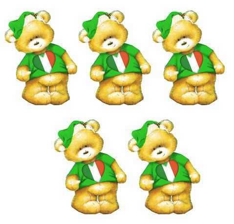 Irish Christmas Teddy Bear Toppers