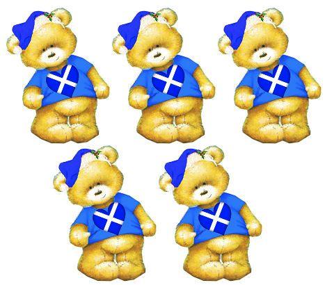 Scotland Christmas Teddy Bear Toppers