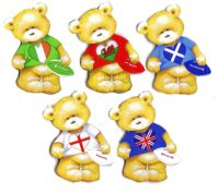 British Lions Rugby Teddy Bear Card Toppers