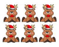 Christmas Reindeer Card Making Toppers