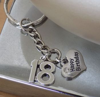 18th Birthday Keyring