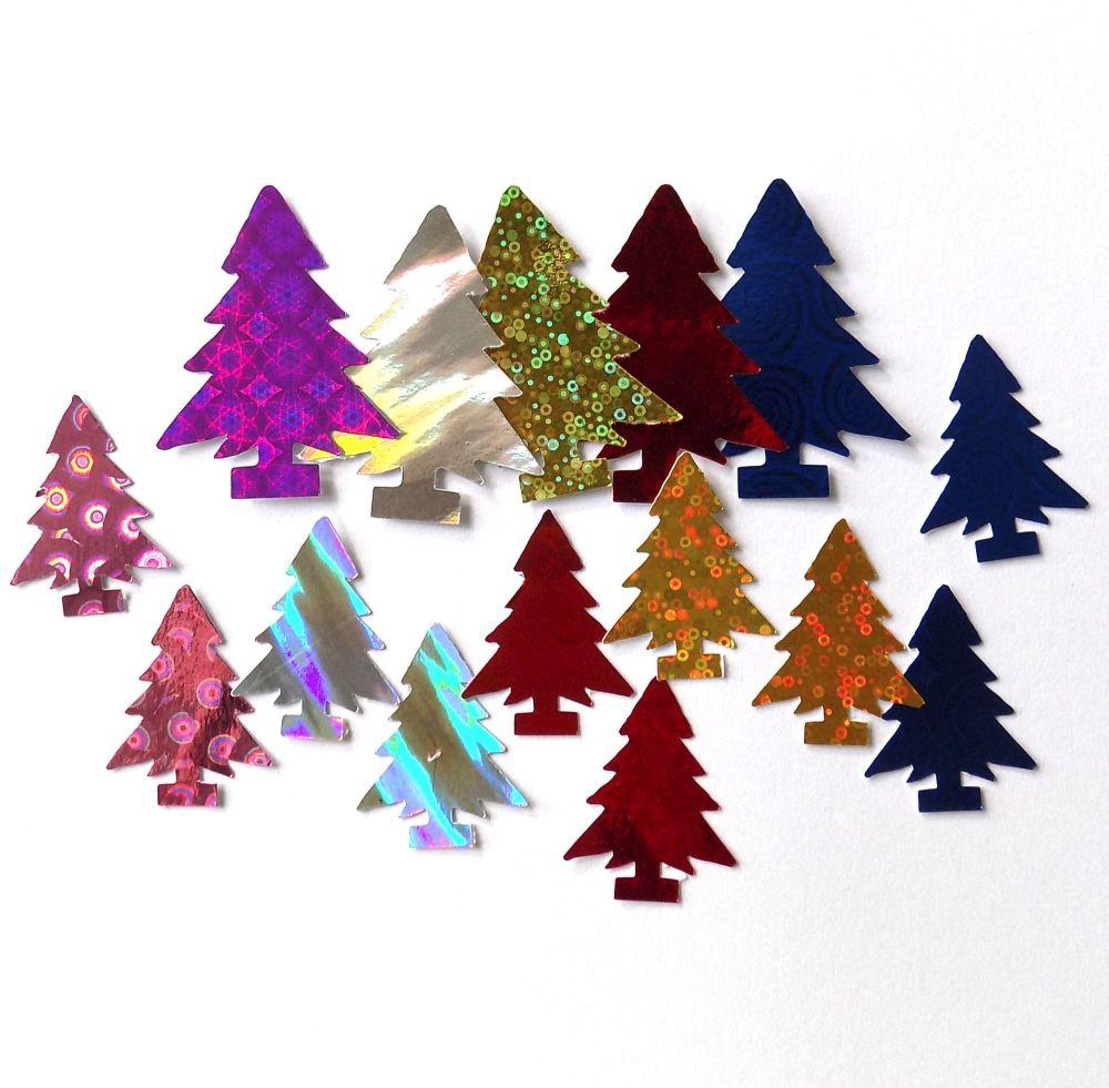 Christmas Tree Holographic Card Embellishments