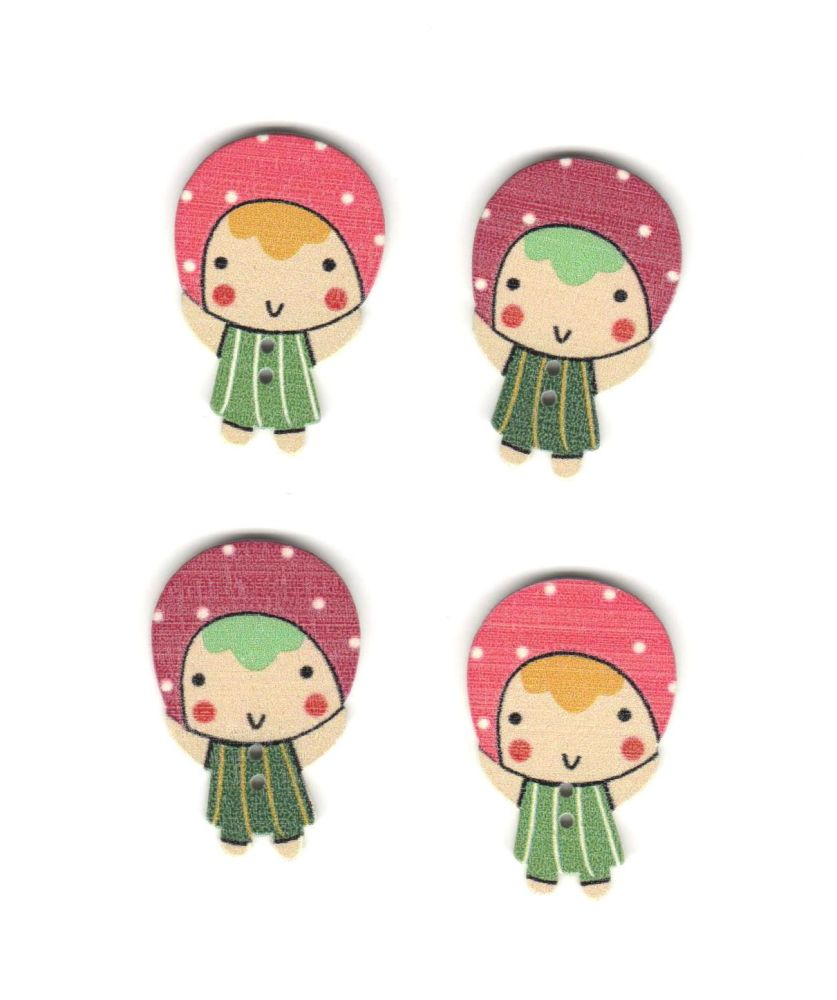Russian Doll Wooden Craft Embellishments
