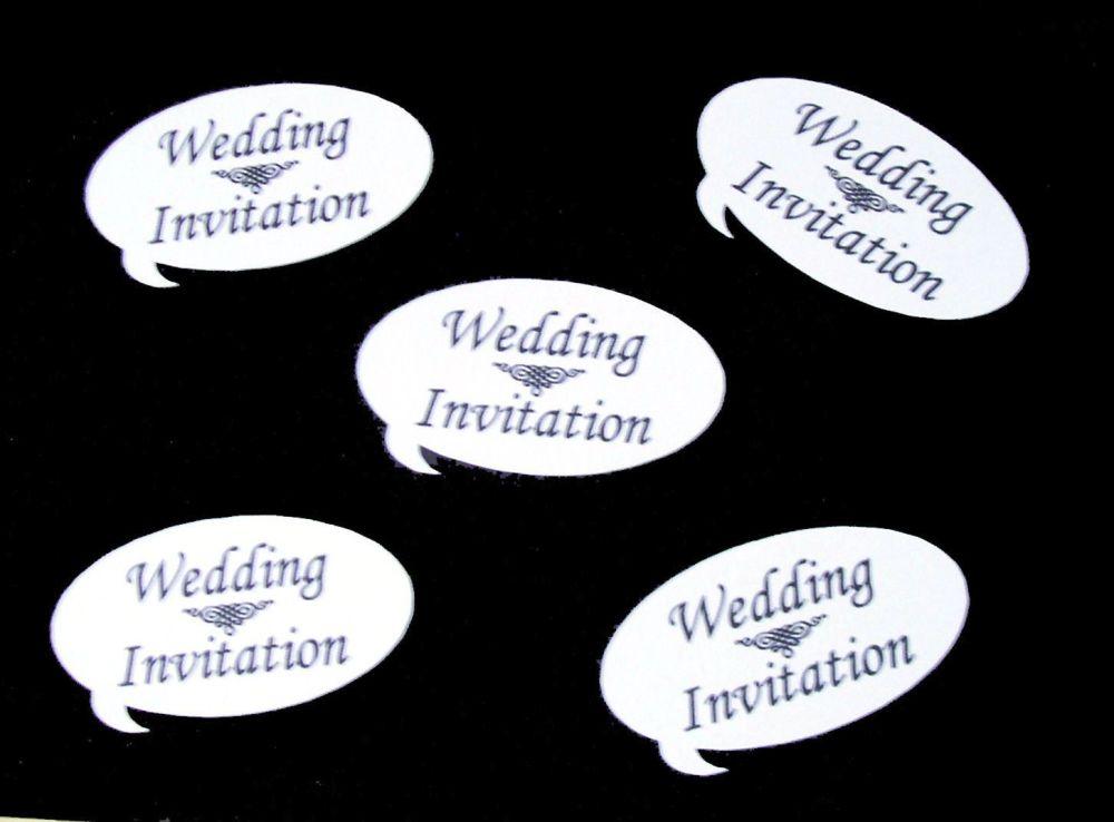 Wedding Invitation Speech Die Cut Embellishments