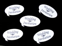Wedding Invitation Speech Die Cut Embellishments