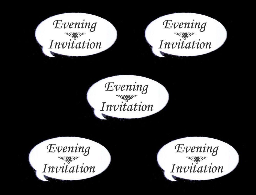 Evening Invitation Speech Die Cut Embellishments