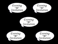 Evening Invitation Speech Die Cut Embellishments