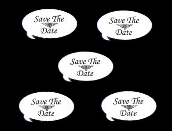 Save the Date Speech Die Cut Embellishments