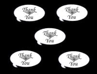 Thank You Speech Die Cut Embellishments