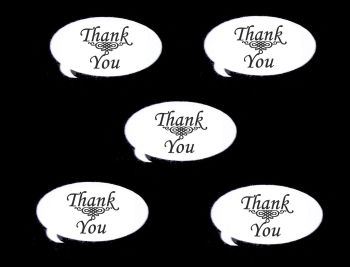 Thank You Speech Die Cut Embellishments