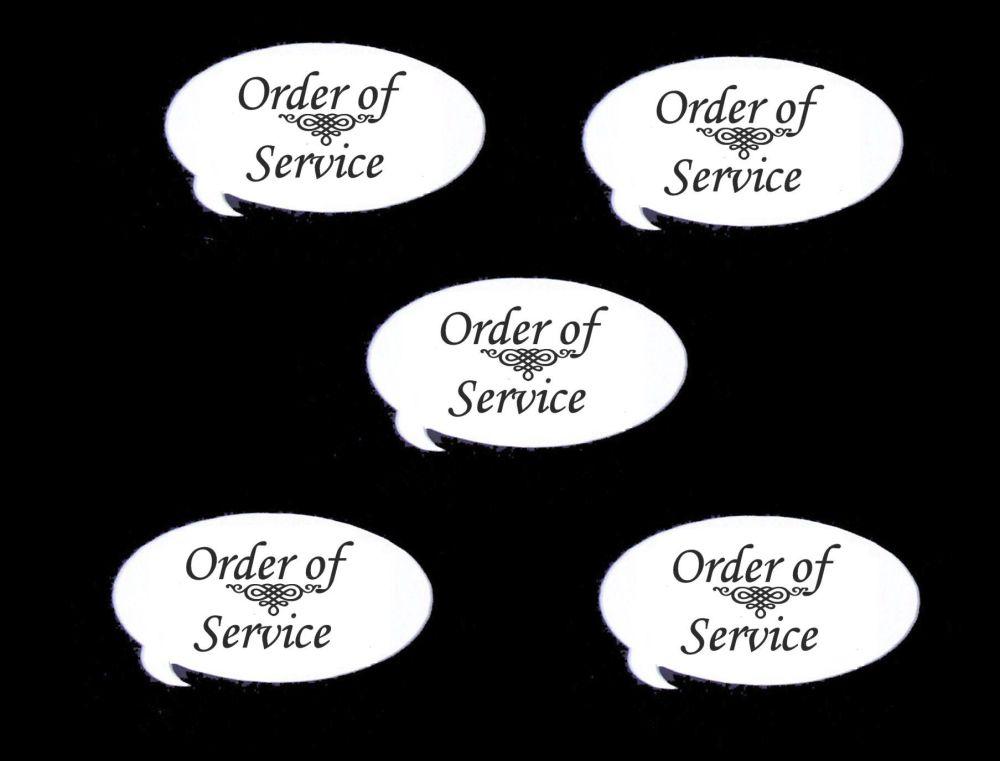 Order of Service Speech Die Cut Embellishments