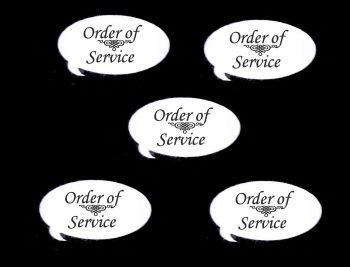 Order of Service Speech Die Cut Embellishments
