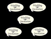 Wedding Invitation Speech Die Cut Embellishments - Ivory