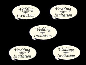 Wedding Invitation Speech Die Cut Embellishments - Ivory
