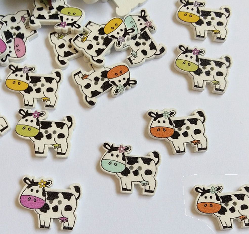 Cow Wooden Craft Embellishments