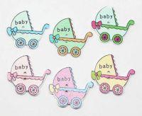 Baby Wooden Pram Embellishments x 10