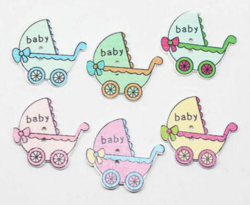 Baby Wooden Pram Embellishments