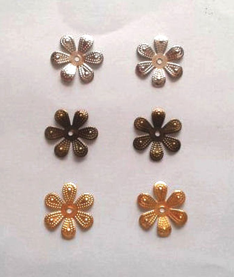 Metal Flower Shapes - Gold, Silver and Bronze