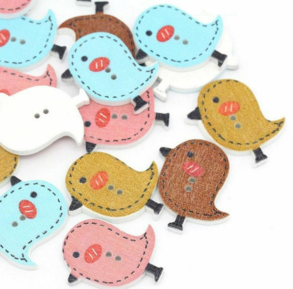 Bird Wooden Style Craft Embellishments
