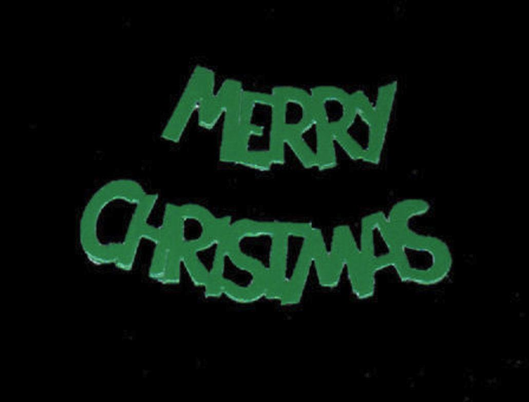 Merry Christmas Green Embellishments