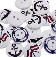 Nautical Themed Sewing Buttons x 10