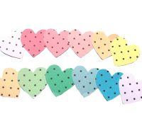 Pastel Polkadot Heart Embellishments x 12
