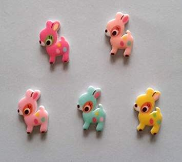 Deer Resin Craft Embellishments x 5