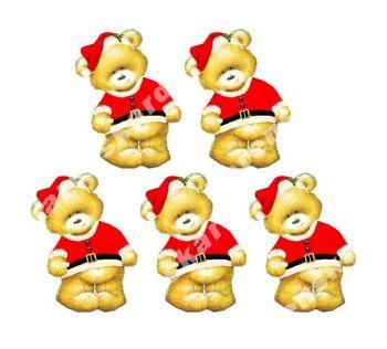 Christmas Santa Teddy Bear Toppers