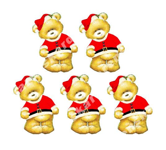 Christmas Santa Teddy Bear Toppers