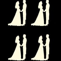 Cream Bride and Groom Craft Embellishments x 20