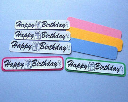 Set of Happy Birthday Banners plus Mounts x 10
