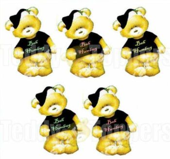 Christmas Bah Humbug Teddy Bear Toppers