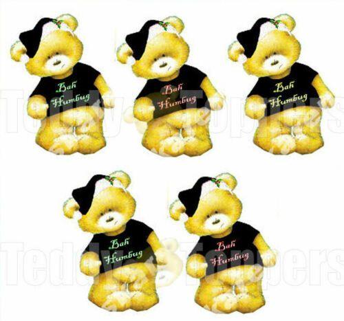 Christmas Bah Humbug Teddy Bear Toppers