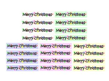 Pastel Merry Christmas Banners x 30