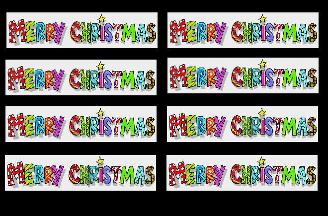 Merry Christmas Banners x 20