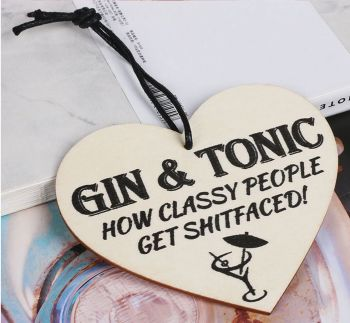 Gin and Tonic Fun Plaque