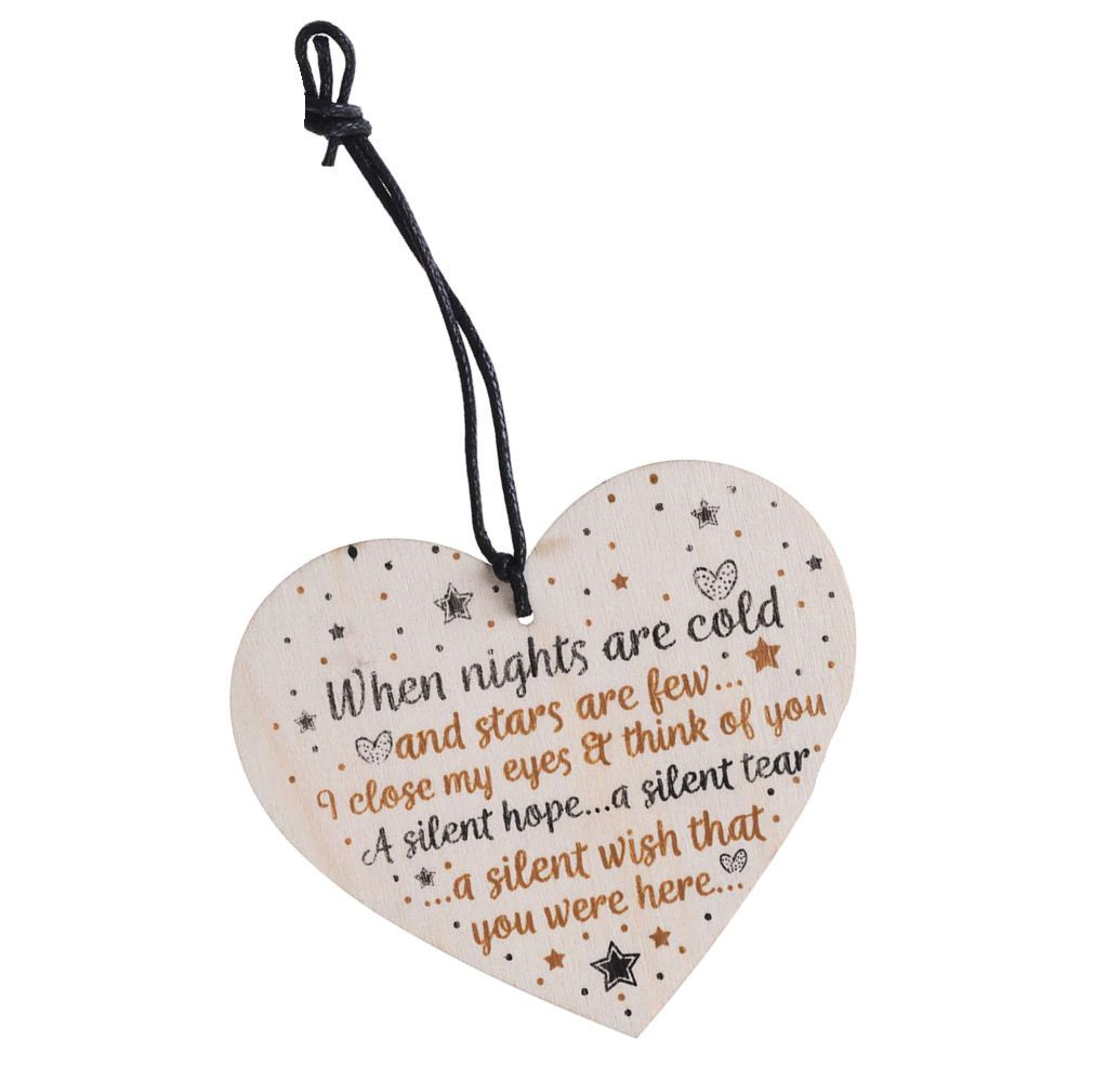 When Nights Are Cold Heart Memorial Plaque